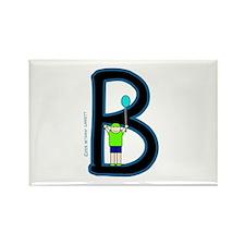 B (Boy) Rectangle Magnet