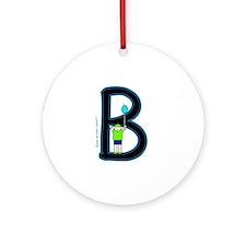 B (Boy) Ornament (Round)