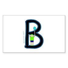 B (Boy) Rectangle Decal