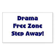 Drama Free Rectangle Decal