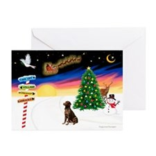 XmasSigns/Lab (choc) Greeting Cards (Pk of 20)