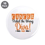 "CancerWrongDiva 3.5"" Button (10 pack)"