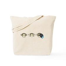 Chimp No Evil Tote Bag