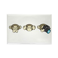 Chimp No Evil Rectangle Magnet