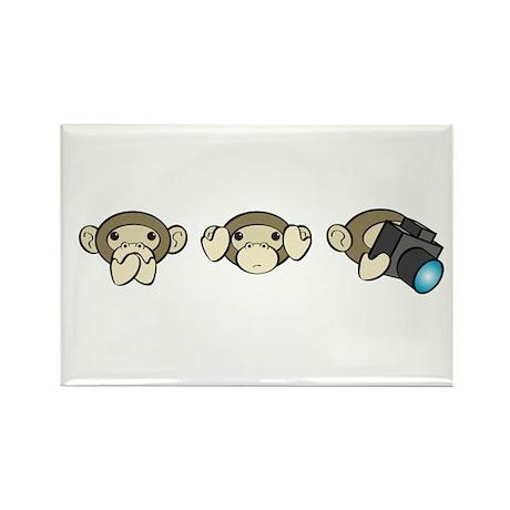 Chimp No Evil Rectangle Magnet