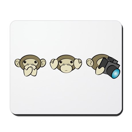 Chimp No Evil Mousepad