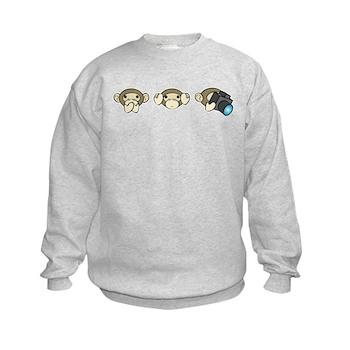Chimp No Evil Kids Sweatshirt