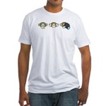 Chimp No Evil Fitted T-Shirt