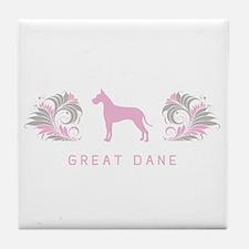"""Elegant"" Great Dane Tile Coaster"