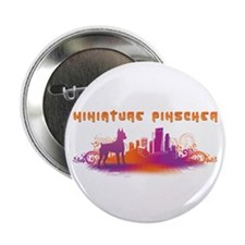 """City"" Miniature Pinscher 2.25"" Button (10 pack)"