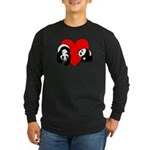 Panda Bear Love Long Sleeve Dark T-Shirt