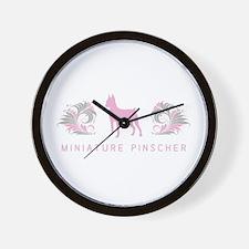 """""""Elegant"""" Miniature Pinscher Wall Clock"""