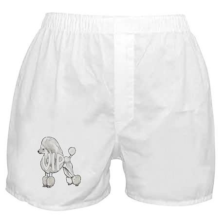 VIP white poodle Boxer Shorts