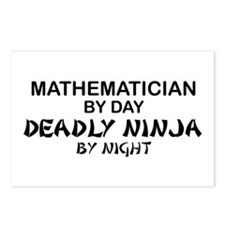 Mathematician Deadly Ninja Postcards (Package of 8