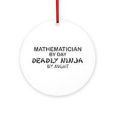 Mathematician Deadly Ninja Ornament (Round)