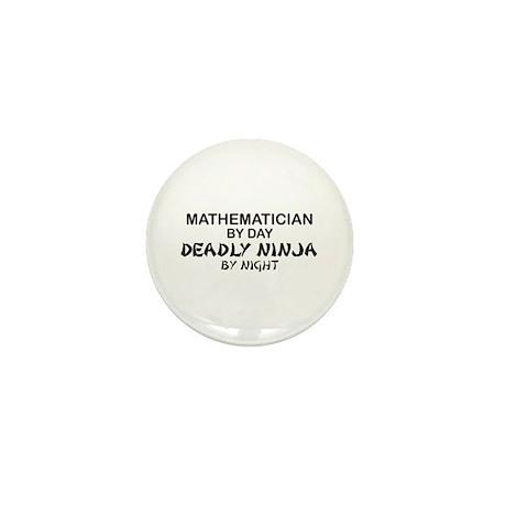 Mathematician Deadly Ninja Mini Button