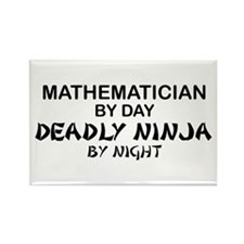 Mathematician Deadly Ninja Rectangle Magnet