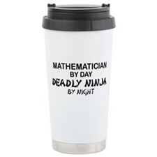 Mathematician Deadly Ninja Travel Mug
