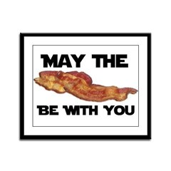 Bacon Force Framed Panel Print