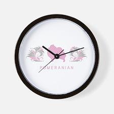 """Elegant"" Pomeranian Wall Clock"