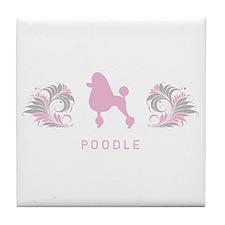 """""""Elegant"""" Poodle Tile Coaster"""