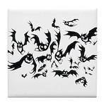 the bats Tile Coaster