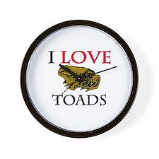 I Love Toads Wall Clock
