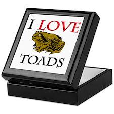 I Love Toads Keepsake Box