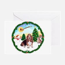 Take Off1/Basset Hound Greeting Card