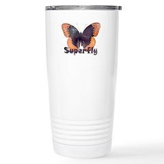 Vintage Distressed Superfly B Travel Mug