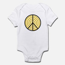 Peace Yellow Spiral Infant Bodysuit
