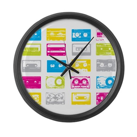 80's Cassettes Large Wall Clock