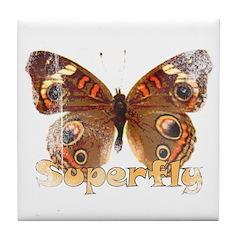 Vintage Superfly Brown Butter Tile Coaster