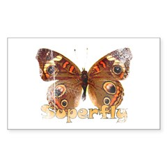Vintage Superfly Brown Butter Rectangle Decal