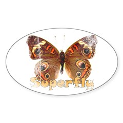 Vintage Superfly Brown Butter Oval Decal