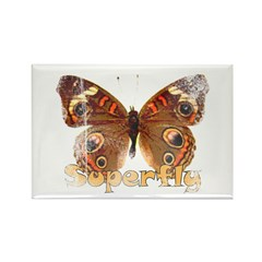 Vintage Superfly Brown Butter Rectangle Magnet