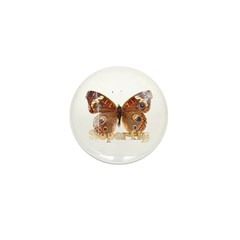 Vintage Superfly Brown Butter Mini Button (10 pack