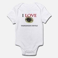 I Love Tasmanian Devils Infant Bodysuit