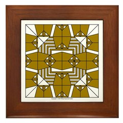 Brown Owls Design Framed Tile