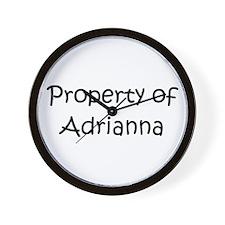 Unique Adrianna Wall Clock