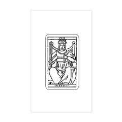 Vintage Justice Tarot Card Rectangle Sticker
