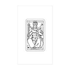 Vintage Justice Tarot Card Rectangle Sticker 10 p