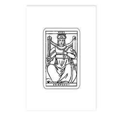 Vintage Justice Tarot Card Postcards (Package of 8