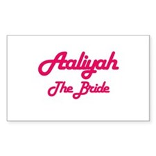 Aaliyah - The Bride Rectangle Decal