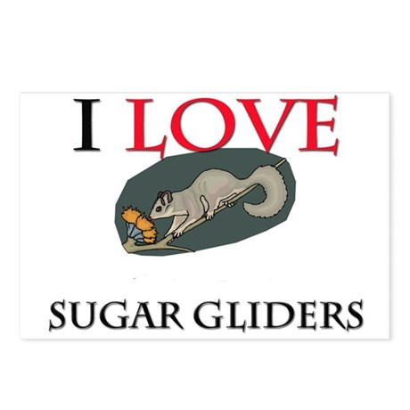 I Love Sugar Gliders Postcards (Package of 8)