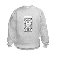 Vintage Devil Tarot Card Sweatshirt