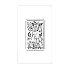 Vintage Devil Tarot Card Rectangle Decal