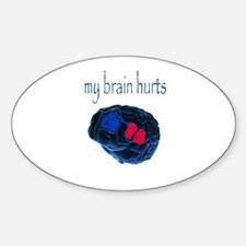 Brain Oval Decal