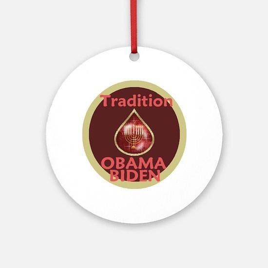 Obama Biden MENORAH Ornament (Round)