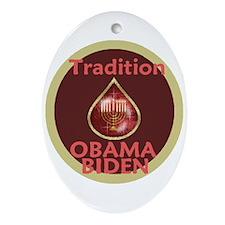 Obama Biden MENORAH Oval Ornament